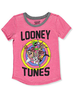 Girls' T-Shirt by Looney Tunes in Fuchsia/gray