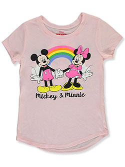 Minnie Mouse & Mickey Girls' T-Shirt by Disney in Pink