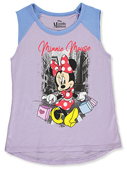 Minnie Mouse Shopping Sleeveless T-Shirt by Disney in Lilac/blue - T-Shirts