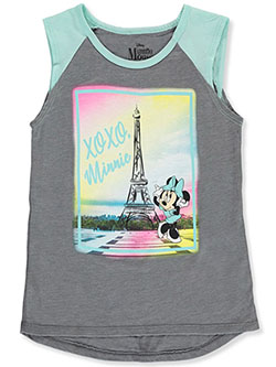 Minnie Mouse In Paris Sleeveless T-Shirt by Disney in Heather gray/multi - T-Shirts