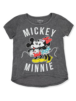 Girls' Mickey And Minnie T-Shirt by Disney in Charcoal