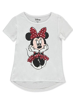 Minnie Mouse Seated Pose Graphic T-Shirt by Disney in White