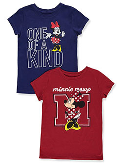 2-Pack T-Shirts by Disney Minnie Mouse in Multi