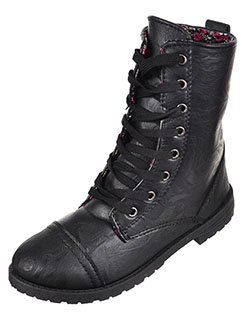 Girls' Combat Boots by Blue Suede Shoes in Black, Shoes