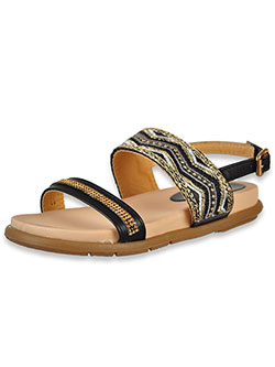 Girls' Sandals by Link in black, tan and taupe