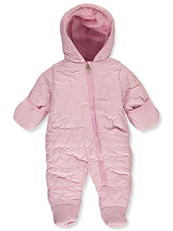 Heart Stitch Insulated Pram Suit by Jessica Simpson in Pink - Snowsuits