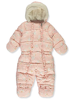 Flower Print Insulated Pram Suit by Jessica Simpson in Pink - Snowsuits