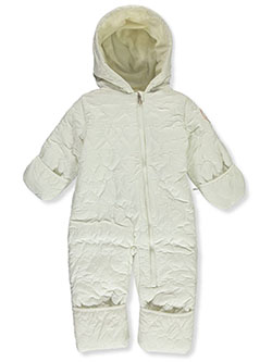 Heart Stitch Insulated Pram Suit by Jessica Simpson in Cream - Snowsuits