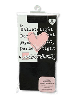 Big Girls' Footed Ballet Tights by Jacques Moret in Black - $4.99