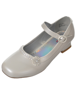 "Josmo Girls ""Toe Pavé Flower"" Mini Pumps (Youth Sizes 13 – 4) - CookiesKids.com"