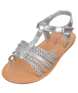 "Josmo Girls ""Gems & Braids"" Sandals (Toddler Sizes 5 – 10) - CookiesKids.com"