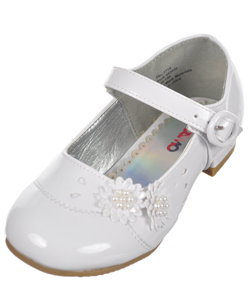 "Josmo Girls ""Pearly Flowers"" Mini Pumps (Toddler Sizes 7 – 12) - CookiesKids.com"