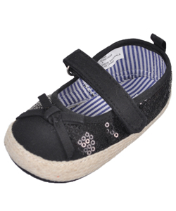 "Rugged Bear Baby Girls' ""Sequin & Bow"" Espadrille Booties - CookiesKids.com"