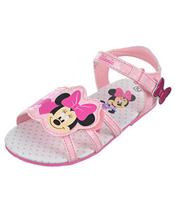 "Minnie Mouse Girls' ""Bow Strap"" Sandals (Toddler Sizes 7 – 12) - CookiesKids.com"