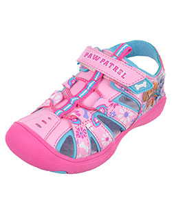 "Paw Patrol Girls' ""Floral"" Sport Sandals (Toddler Sizes 7 – 12) - CookiesKids.com"
