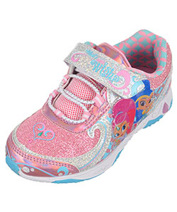 "Shimmer and Shine Girls' ""Glitter & Flash"" Light-Up Sneakers (Toddler Sizes 7 – 12) - CookiesKids.com"