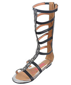 "Kensie Girls' ""Pearly Eye"" Gladiator Sandals (Youth Sizes 13 – 4) - CookiesKids.com"
