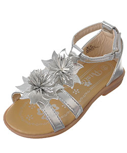 "Petalia Girls' ""Tropical Blossom"" Sandals (Toddler Sizes 6 – 12) - CookiesKids.com"
