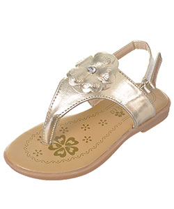 "Petalia Girls' ""Gem Blossom"" Sandals (Toddler Sizes 6 – 12) - CookiesKids.com"