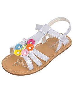 "Rugged Bear Girls' ""Rainbow Bouquet"" Sandals (Toddler Sizes 5 – 10) - CookiesKids.com"