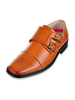 "Boys' ""Double Buckle"" Dress Shoes by Joseph Allen in Tan"