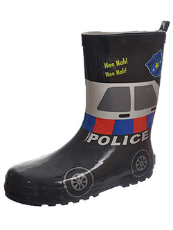 "Joseph Allen Boys' ""Police Siren"""" Rain Boots (Youth Sizes 13 – 4) - CookiesKids.com"
