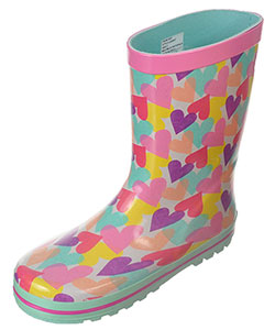 "Laura Ashley Girls' ""Confetti Hearts"" Rain Boots (Youth Sizes 13 – 4) - CookiesKids.com"