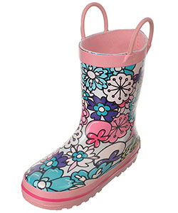 "Laura Ashley Girls' ""Floral Pop"" Rain Boots (Toddler Sizes 7 – 12) - CookiesKids.com"