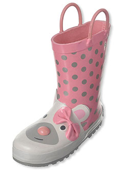 "Laura Ashley Girls' ""Rain Bear"" Rain Boots (Toddler Sizes 7 – 12) - CookiesKids.com"