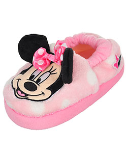 Minnie Mouse Girls' Plush Slippers (Toddler Sizes 7 - 12) - CookiesKids.com