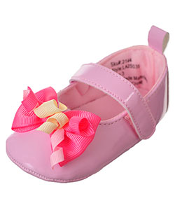 Laura Ashley Baby Girls' Mary Jane Booties - CookiesKids.com