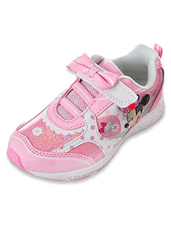 Disney Minnie Mouse Girls' Light-Up Sneakers (Sizes 7 – 12) - CookiesKids.com