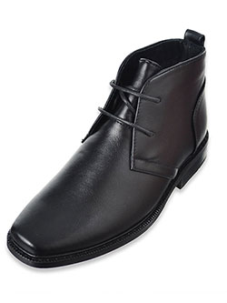 Boys' Ankle Boots by Joseph Allen in black and tan, Shoes