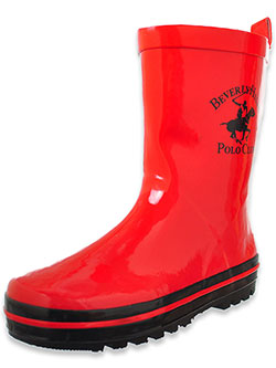 Boys' Rain Boots by Beverly Hills Polo Club in Red