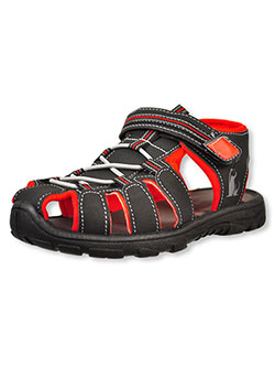 Boys' Sports Sandals by Rugged Bear in Black/red - Sandals