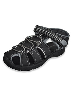 Boys' Sports Sandals by Rugged Bear in black/gray, black/red and navy blue