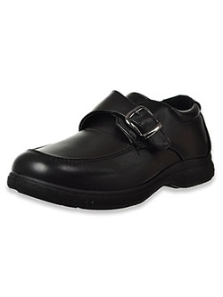 "Boys' ""Connor"" Hook-and-Loop School Shoes by Josmo in Black"