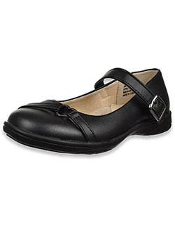 Girls' Strapped Heart School Shoes by Laura Ashley in black, brown and navy