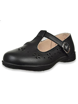Girls' T-Strap Mary Jane Shoes by Laura Ashley in Black