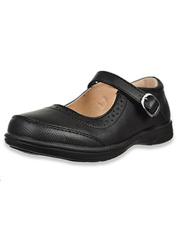 Girls' Textured Trim Mary Jane Shoes by Laura Ashley in Black