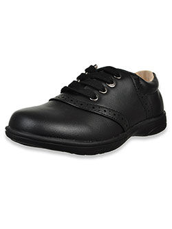 Girls' Lace-Up School Shoes by Laura Ashley in black and navy