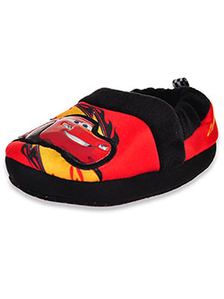 Cars Boys' Lightning McQueen Slippers by Disney in Black/red, Toddler