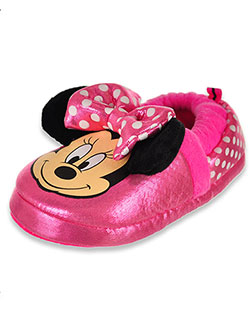 Minnie Mouse Boys' Bow Eared Slippers by Disney in Pink, Shoes