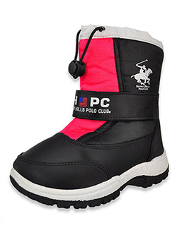 Logo Strapped Winter Boots by Beverly Hills Polo Club in Pink