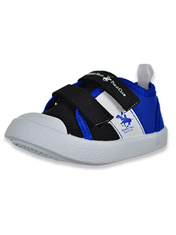 Boys' Blocked Sneakers by Beverly Hills Polo Club in Black/blue, Infants