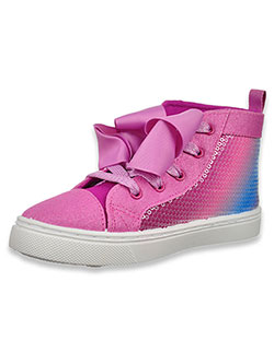 Girls' Gradient Sequin Hi-Top Sneakers by Jojo Siwa in Purple/blue - Sneakers
