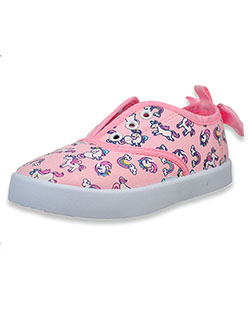 Unicorn Lace-Free Sneakers by Beverly Hills Polo Club in Pink, Shoes