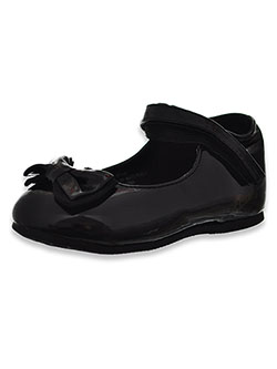 Girls' Patent Leather Bow-Tie Dress Shoes by Josmo in black and white