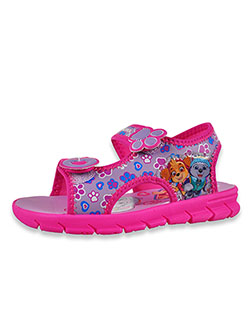 Girls' Double Strap Sandals by Nickelodeon Paw Patrol in Fuchsia, Shoes