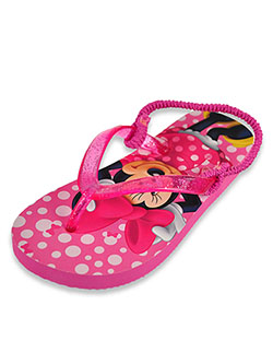 Glitter Flip Flop Sandals by Disney Minnie Mouse in Pink